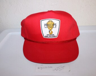Vintage 90 s Phillips Crane   Riggings Co Snapback Hat a8e5827e629e