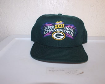 ad769c53 Vintage 90's Super Bowl 31 Champions Green Bay Packers Snapback Hat