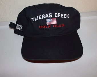 Vintage 90 s Tijeras Creek Golf Club Strapback Hat by Ahead 43f82450d79