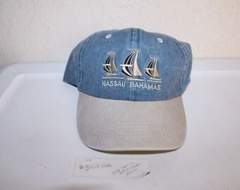 768b9a88 Vintage 90's Nassau Bahamas Strapback Hat