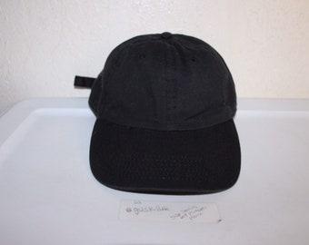 c24fc8feb52fb Vintage 90 s Blank Black Strapback Hat by Headwear Depot