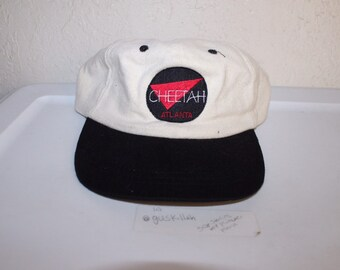 42827d8d7058a Vintage 90 s Atlanta Cheetah Strapback Hat by Gag Wear