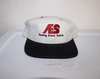 129827d028c Vintage 90 s AES Harding Street Station Snapback by Yupoong
