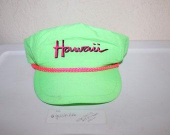 c4a309277ec1e Vintage 90 s Hawaii Neon Green Snapback by Hawaiian Headwear