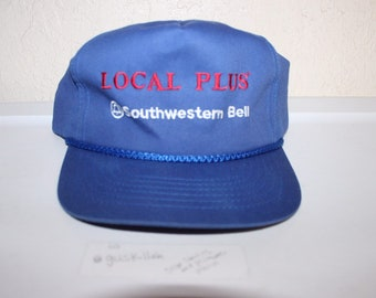 bbb7daa3b5f79 Vintage 90 s Local Plus Southwestern Bell Snapback by Youngan Hat