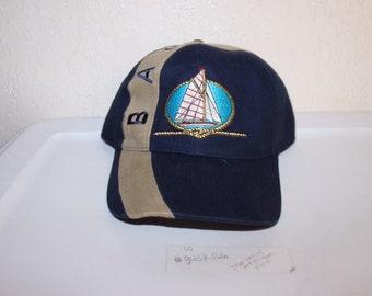 1f23e264 Vintage 90's The Bahamas Strapback Hat by Bahama Sport