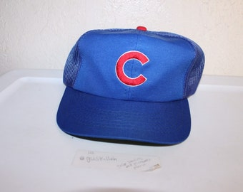 38e9abcb67d Vintage 80 s Chicago Cubs Meshback Snapback by Sports Specialties