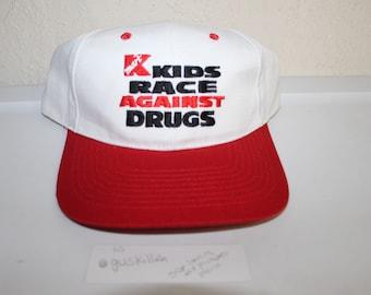 7bd8610adf2 Vintage 90 s Kmart Kids Race Against Drugs Snapback