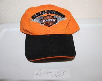 Vintage 90 s Harley Davidson Strapback Dad Hat by Harley Davidson 8ff41a52ae5c