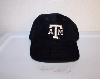 fe9008a9e7030 Vintage 90 s Texas A M University Aggies Corduroy Strapback Hat by Magic