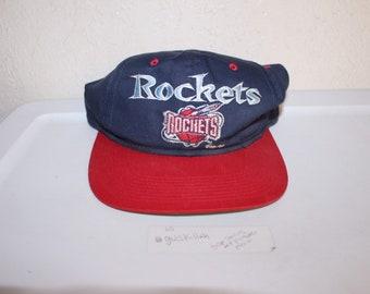 354fc920120a5 Vintage 90 s Houston Rockets Snapback by Gcap