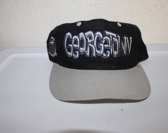 923a0353c5d Vintage 90 s University of Georgetown Hoyas Snapback by Top of the World
