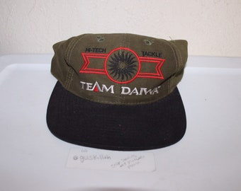 825fe8c8c45 Vintage 90 s Team Daiwa Hi-Tech Bait Strapback Hat by Daiwa