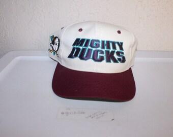 Vintage 90 s Anaheim Mighty Ducks Snapback by Sports Specialties 8706f9de32d3