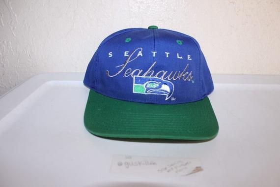 Vintage 90's Seattle Seahawks Snapback by Drew Pea