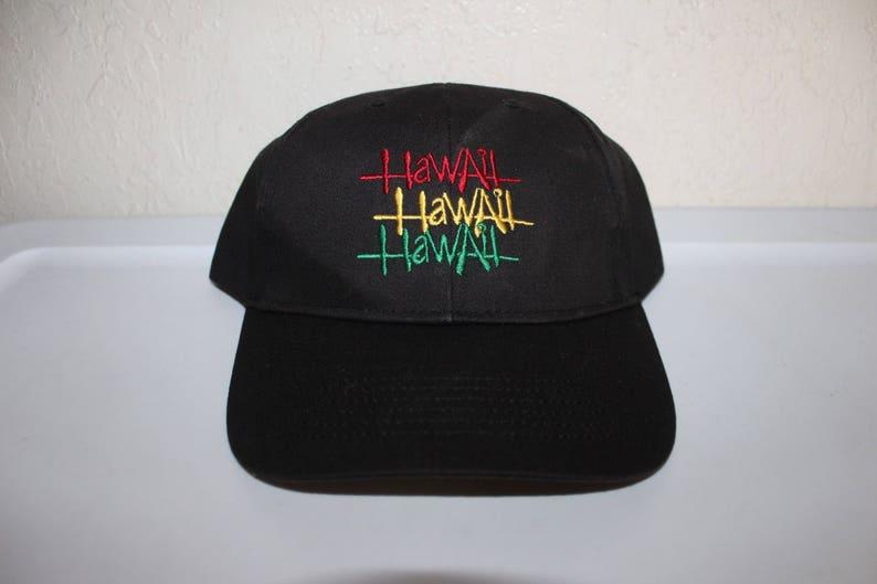 c9b0b2319ed Vintage 90 s Hawaii Rasta Snapback by Hawaiian Headwear