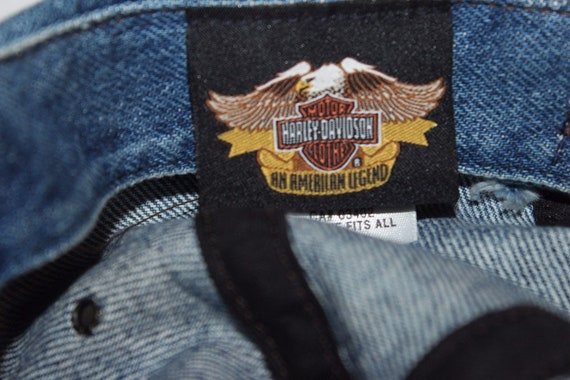 Vintage 90's Harley Davidson Strapback Hat by Har… - image 5