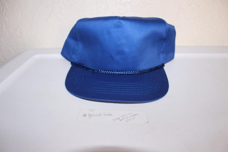 ae8312230 Vintage 90's Blank Blue Custom Snapback Hat