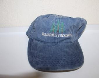 Vintage 90's Wilderness Resorts Strapback Dad Hat by Triangle Sport