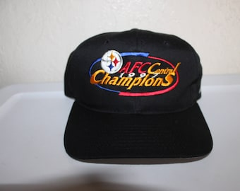 Vintage 1997 AFC Central Champions Pittsburgh Steelers Snapback by New Era