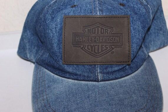 Vintage 90's Harley Davidson Strapback Hat by Har… - image 2