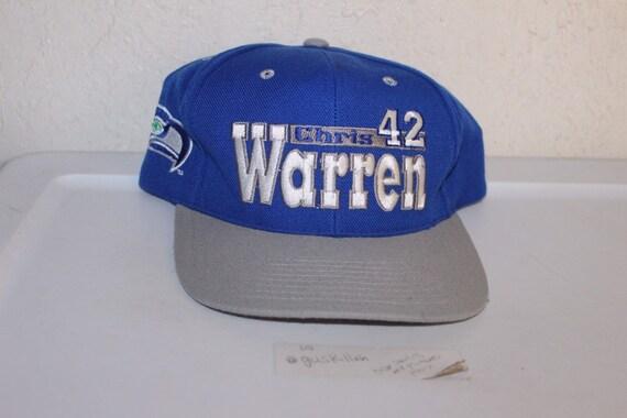 Vintage 90's Seattle Seahawks Chris Warren Snapbac