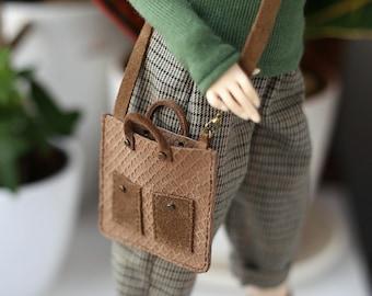 Leather Bag for MSD BJD doll 1\4