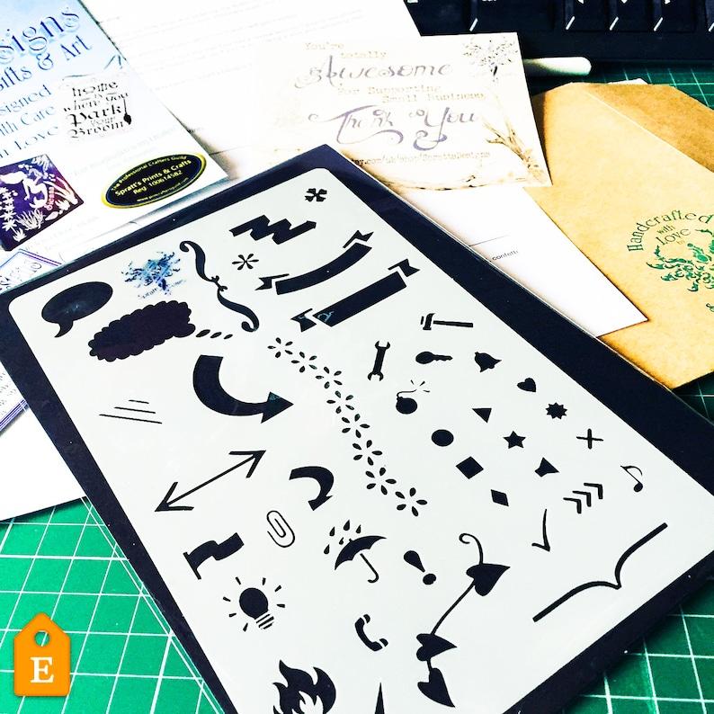 Starters Bullet Journal Stencil craft mylar stencil planner image 0