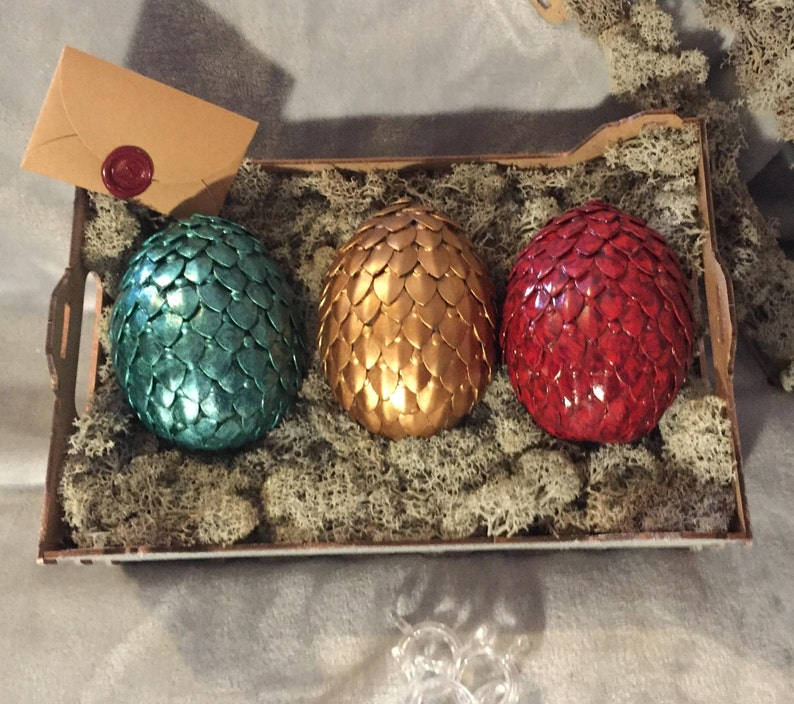 Individual Dragon Egg Mythical Creation with Metal Scales image 1