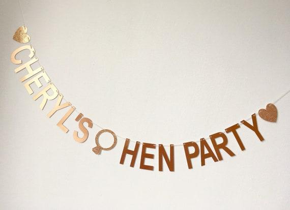1.5m Rose Gold Team Bride Banner Bunting Garland Hen Night Party Wedding Decor