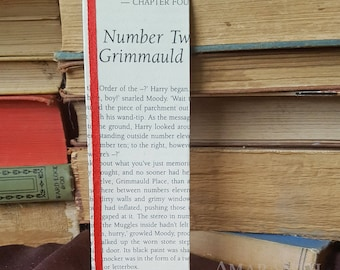 Harry Potter - Number Twelve Grimmauld Place - Book Page and Ribbon Bookmark