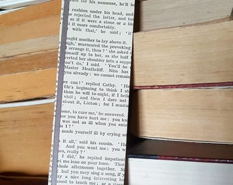 Wuthering Heights - Emily Bronte - Book Page and Ribbon Bookmark