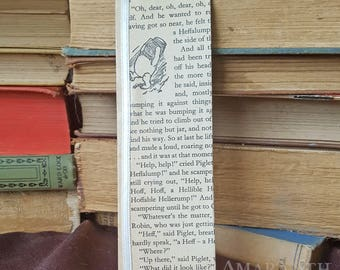Winnie the Pooh Book Page and Ribbon Bookmark