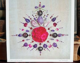 Crystal Grid Art Print - Love and Romance Crystal Grid - Love - True Love