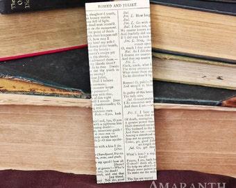 Shakespeare's Romeo and Juliet Book Page Bookmark