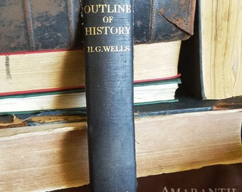The Outline of History - Book Spine Bookmark