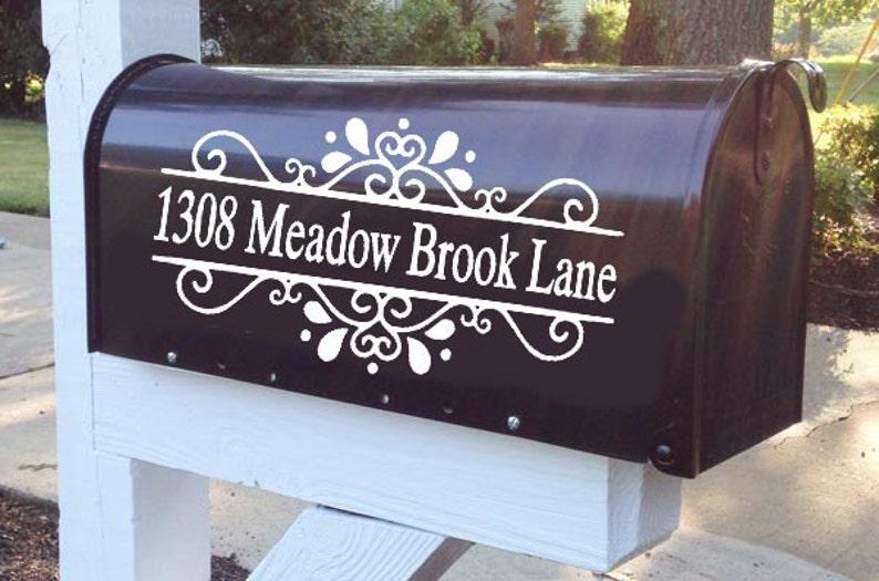 Floral Split Mailbox Decal