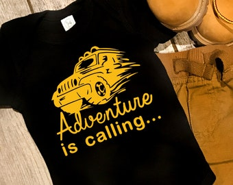 Adventure is Calling... - Jeep - Baby Bodysuit or Toddler T-Shirt