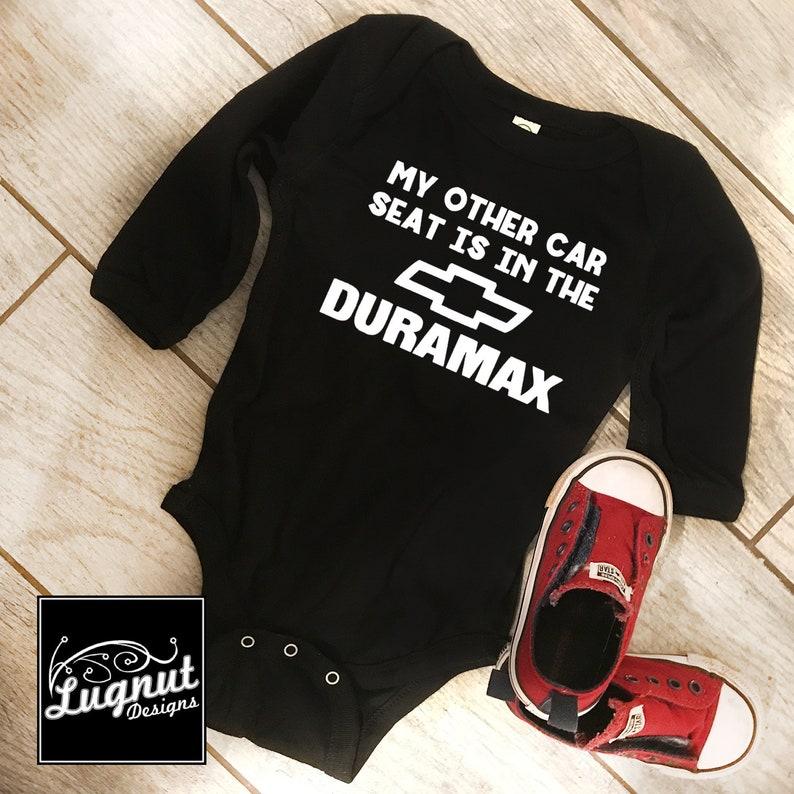 1de270bfb644 Chevy Duramax Car Seat Baby Bodysuit or Toddler TShirt | Etsy