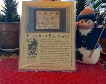 The Scarlet Letter Elizabeth Shephard 1820 Sampler Cross Stitch
