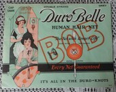 Vintage 1920 39 s DUROBELLE Double Strand Grey REAL HUMAN Hair Net