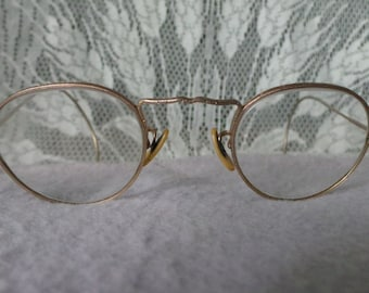 132added6f23 Vintage Antique AMERICAN OPTICAL Cortland ENGRAVED Art Deco Round Spectacle  Eyeglasses