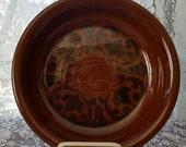 SHEFFIELD AMBERSTONE Vintage FIESTA By Homer Laughline Pie Serving Plate