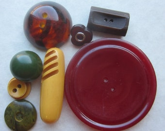 BAKELITE  Variety of Shapes and Colors  OneWomanRepurposed B 737