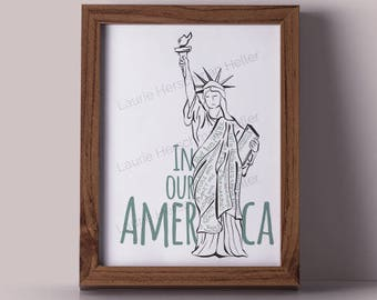 American Values Statue of Liberty 8x10 print // black lives matter // love is love // women's rights are human rights // no human is illegal