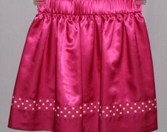 Hot Pink Satin Skirt