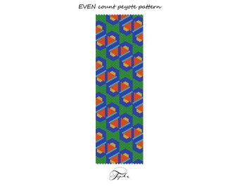 peyote pattern crazy Art Deco bracelet