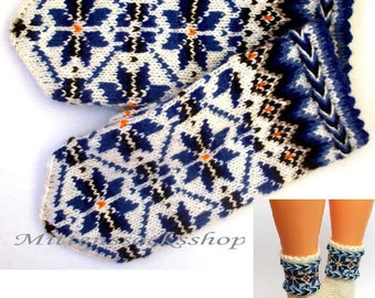 White Blue Mittens Hand Knitted Wool Mittens Hand Knitted White Blue Gloves Wool Gloves Warm Mittens Winter Gloves Patterned Latvian Mittens