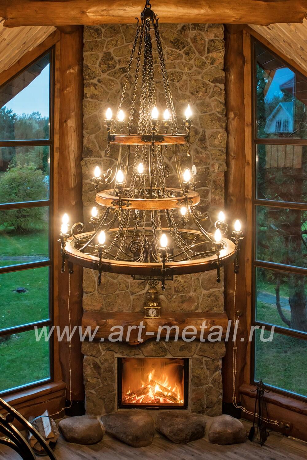 Wrought iron chandelier Wagon wheel Oak chandelier Large ceiling chandelier Hand forged chandelier Farmhouse chandelier Rustic chandelier .