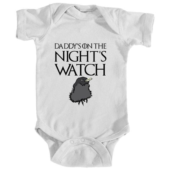 Game Of Thrones Baby One Peice Baby Crow Bodysuit